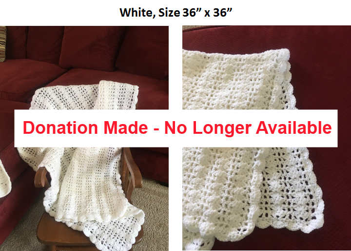White Afghan - Donation made, no longer available